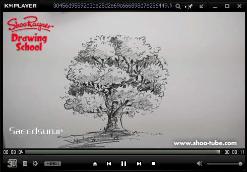 آموزش ويدئويي اسكيس درخت درخت اسكيس آموزش