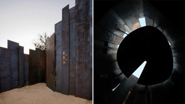 7 Miro Rivera Architects Trail Restroom 600x336 عكسهايي از دستشويي هاي عمومي در نقاط مختلف جهان