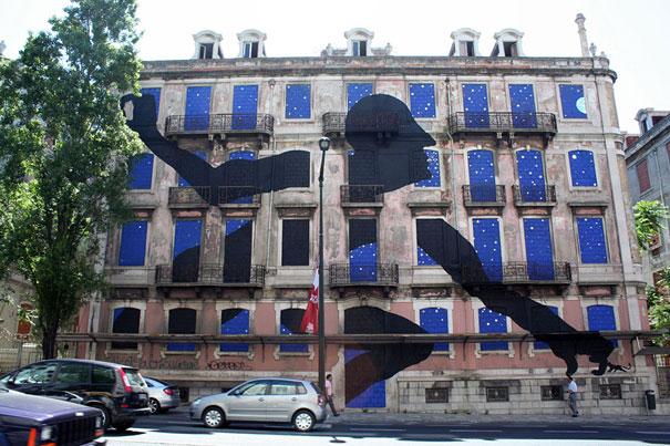 نقاشي هاي ديواري جذاب نقاشي ساختمان ديوار