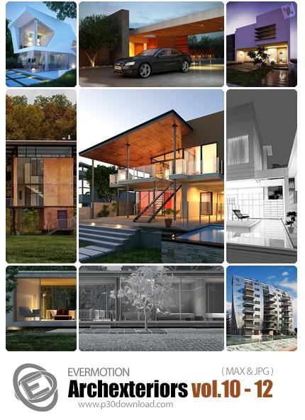 دانلود ArchexteriorsHD Vol 10-12 -  مدل های آماده سه بعدی طراحی خارجی - شماره 12-10