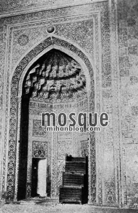 محراب مسجد جامع یزد در سال 1315