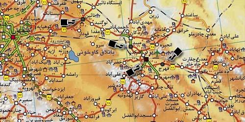 نقشه شهرستان یزد از استان اصطخر