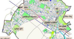 دانلود مطالعات جامع ضوابط و مکانیابی نشانه های خاص شهر کرج کرج شهرسازی