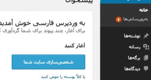 دانلود کتابچه امورش قدم به قدم تصویری وردپرس فارسی - راه اندازی وب سایت در 5 دقیقه وردپرس