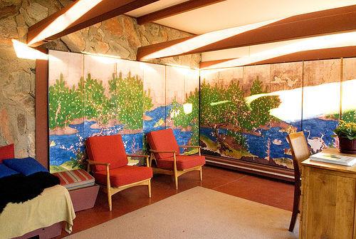 Olgivanna Lloyd Wright's bedroom, Taliesin West, Scottsdale, Arizona