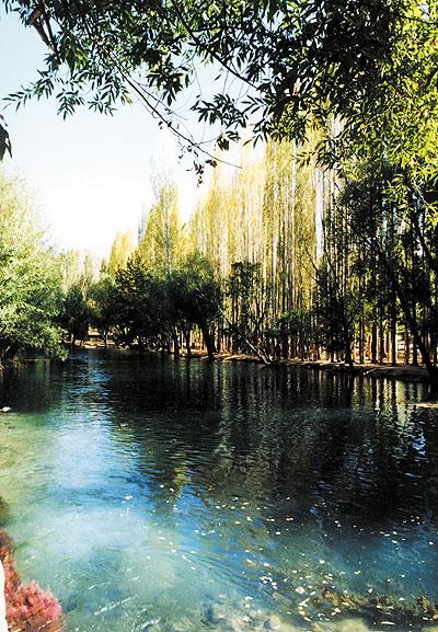 Iranian gardens - bagh-e Cheshme Ali Damghan