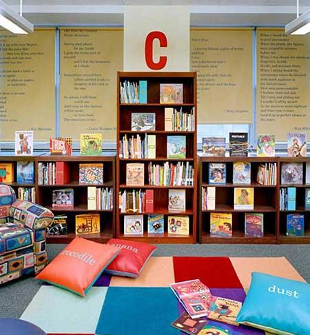 دکوراسیون کتابخانه, چیدمان کتابخانه, چیدمان خلاقانه کتابخانه,دنیای کودکانه