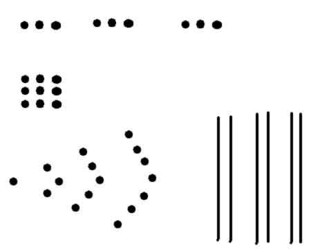دوایر مجاور هم تشکیل یک خط میدهند و خطوط نزدیک به هم زودتر شکل را بوجود می آورند.